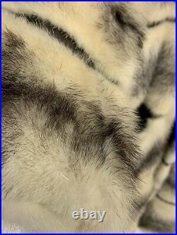 Vintage Mink Coat & HAT Saphire Cross Color Women Large Long Length NO RESERVE