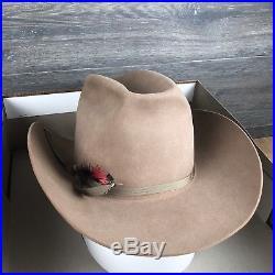 Vintage NIB Bailey Custom Twenty Five Western Cowboy Hat Women Almond 7 1/4 MINT
