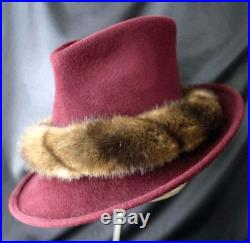 Vintage PHILIP TREACY London Felt & Fur Hat 90s
