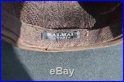 Vintage Pierre Balmain Women's brown pleated TURBAN HAT 60-70's brown silky