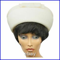 Vintage Pierre Cardin 1960s Womens Breton Straw Hat Saks Fifth Avenue Size M