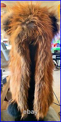 Vintage REAL Red Fox Fur Womans Winter Hat Toboggan New With Tag