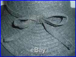 Vintage Rare Helen Kaminski Women's Grey Wool Hat