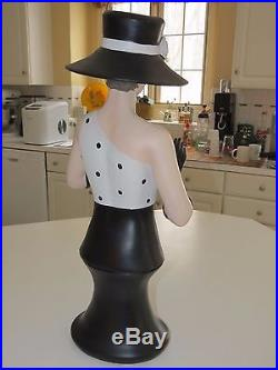 Vintage Tabletop Mannequin Art Deco Woman with Hat Jewelry/Boudoir Display Glamour