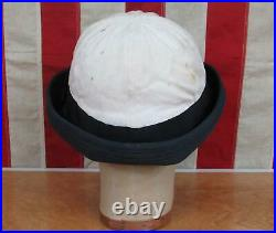 Vintage WWII US Navy WAVES Womens Uniform Cap Hat White/Blue Sz. 23 USN Rare 1of2
