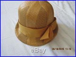 Vintage Wheat Straw Women's Hat Sold By JEAN'S Englewood, NJ Mr. John Jr