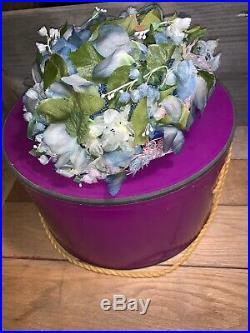Vintage Woman's Christian Dior Chapeaux Paris-New York Flower Cloche Hat