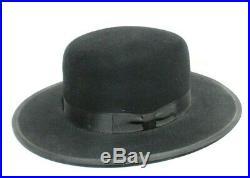 Vintage Women's Black Stetson Beaver Fedora (Stevie Nicks) Hat 6 7/8
