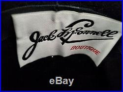 Vintage Women's Black hat felt with Fur Jack McConnell Boutique MINT