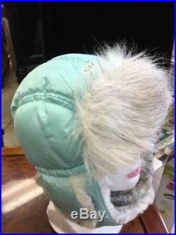 Vintage Women's Jumpsuit Ski / Snow Suit with furry Hat. Size S, MINT Condition