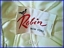 Vintage Women's Robin New York White Ostrich Feather Cartwheel Style Hat