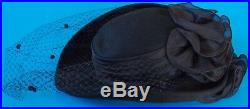 Vintage Women's Wool Veiled Hat By Sonni San Francisco Made In USA