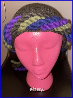 Vintage Yves Saint Laurent Collection Rive Gauche Twisted Knitted Hat Wool