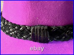 Vintage Yves St Laurent Rive Gauche Purple Felt Womans Hat Paris Made Size 57