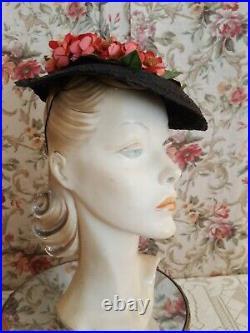 Vintage hat lot 1940s era millinery flowers
