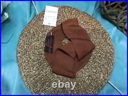 Vintage straw hats for women 1930s 40s Tilt Raffia By Felix French Brown