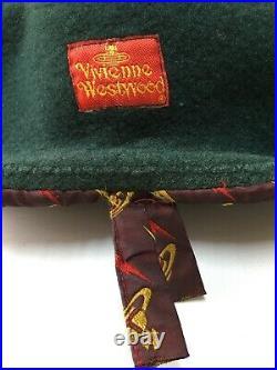 Vivienne Westwood KANGOL Original Vintage Red Label Beret 90s Made in England