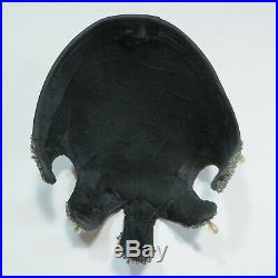 Vtg 1920s Flapper Skull Cap Headpiece Black Beaded Hat