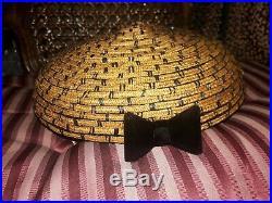 Vtg 1950s SCHIAPARELLI Paris Sculptural Basket Motif Beret Cap Hat Xlnt