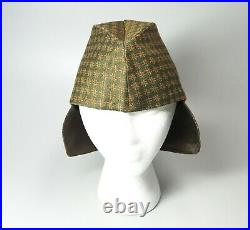 Vtg 1999 Jean Paul Gaultier Pour Gibo Wool Silk Ear Flap Cap Hat Sz 42 Green
