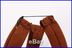 Vtg COUTURE c. 1940's Tan Brown Felted Wool Sculptural Bow Fascinator Hat