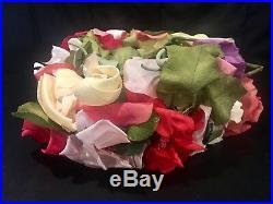Vtg Christian Dior Silk Flower Hat In Hat Box Fascinator Floral Paris France