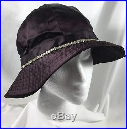 Vtg Hat GLORIA SWANSON ESTATE Personal Wardrobe Purple Rhinestones by Ahrens NY