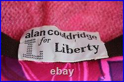 Vtg LIBERTY of London Alan Couldridge 1960's Psychedelic Silk Floral Hat Beret