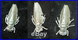 Whimsical Bes-Ben ChicagoBen Green-Field Cicada Adorned Black Suede Hat + Box