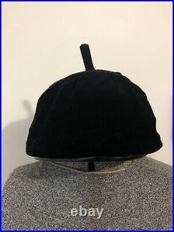 Woman's Vintage Christian Dior Black Velvet Beret Hat