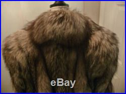 Womens/Mens CRYSTAL FOX Full Lgth FUR COAT and HAT, not Mink or Raccoon, Vintage