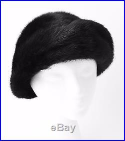 086ebb6e Womens Mink Fur Hat Dark Brown Mink Large Size Mink Cloche- Bill Marre Vtg