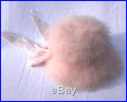 Wonderful Vintage 60's PINK Marabou Ladies Hat with bow Size 21.5