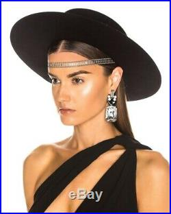 YSL Yves Saint Laurent Andalusian Hat $1600.00 BNWT Black withgold belt