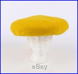 e08eb782 Vintage Womens Hats | YVES SAINT LAURENT c. 1960's YSL Mod Yellow ...