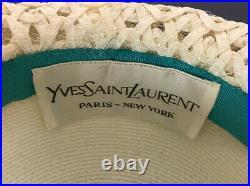 Yves Saint Laurent Ladies 60s Straw Hat Brim white