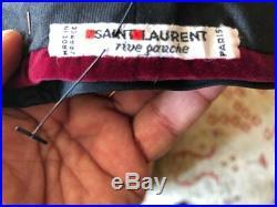 Yves Saint Laurent Rive Guache 70's Velvet Turban with Silk Bow